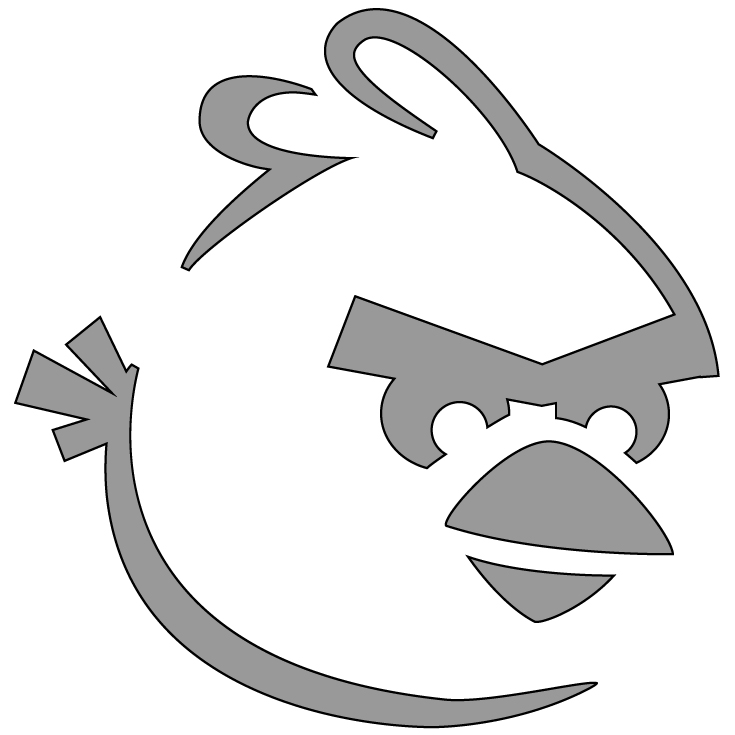 picture about Angry Birds Pumpkin Carving Patterns Printable titled No cost jack-o-lantern stencils encouraged as a result of Indignant Birds